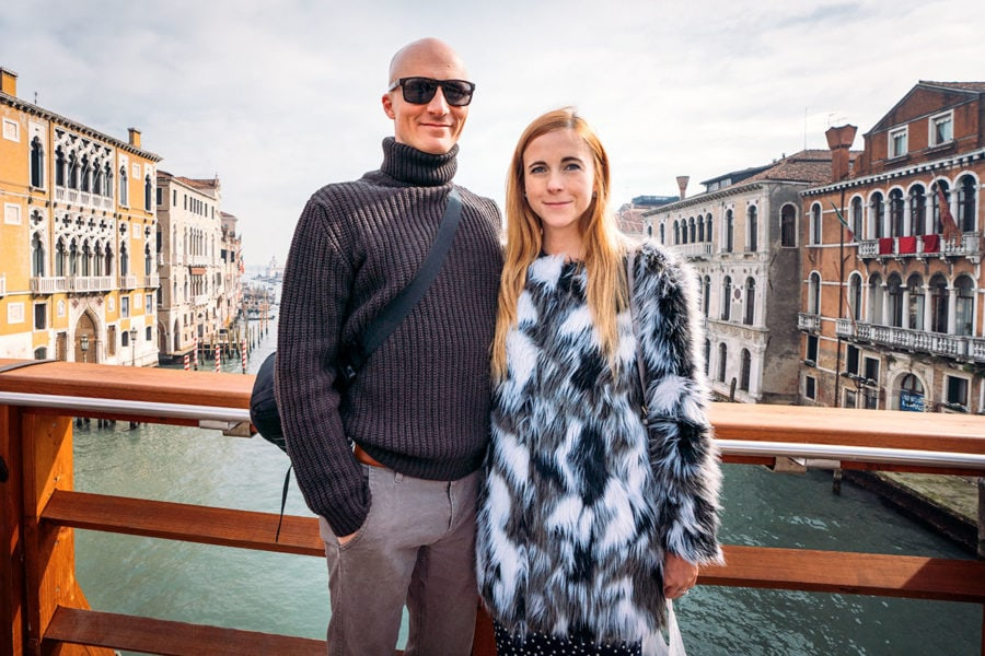 Matt and Anna in Venice