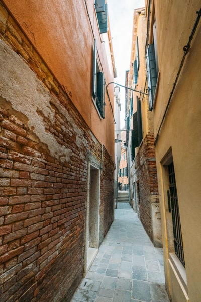 Walking street in Venice