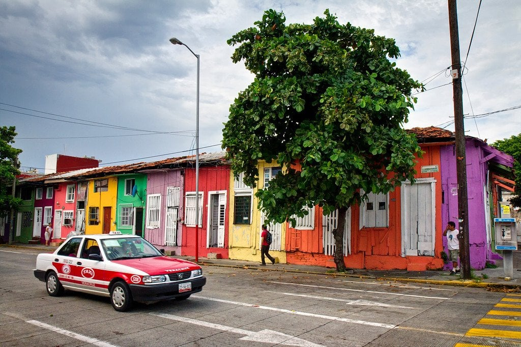 La Huaca Neighborhood Veracruz Mexico