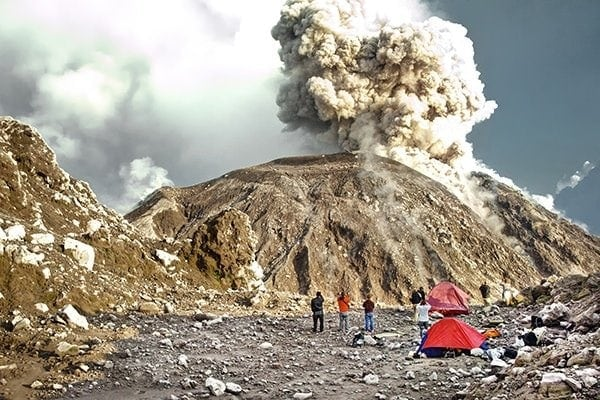 Camping On An Erupting Volcano In Guatemala