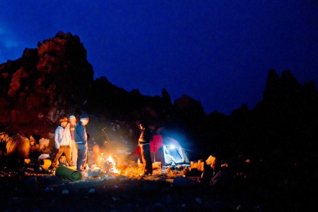 Camping on Volcano Santiaguito Guatemala