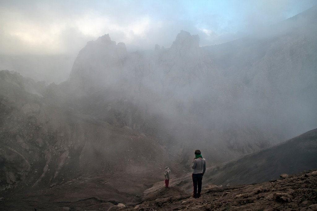 Climbing Santiaguito Crater Guatemala