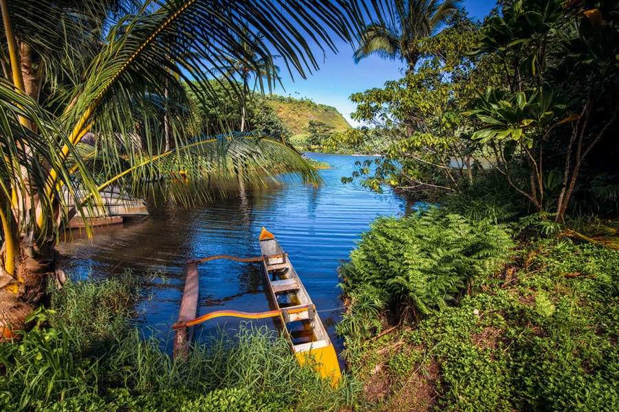 Outrigger Canoe on Wailua River