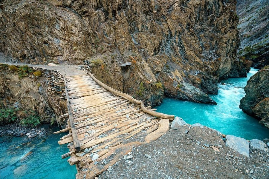 Footbridge in Wakhan Corridor