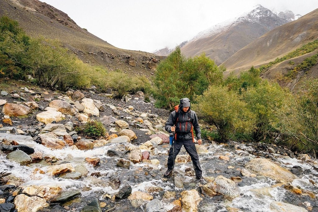 Crossing a River in the Pamirs