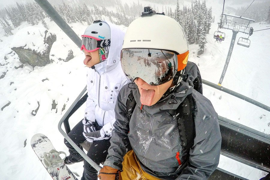 Snowing Whistler Blackcomb
