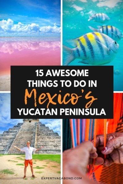 The best things to do I'm Mexico's Yucatan Peninsulas. #Yucatan #Mexico