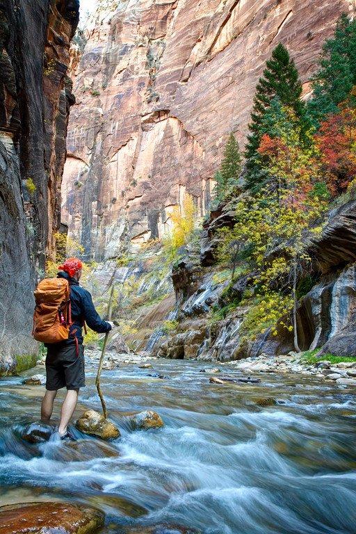 Hiking Zion Narrows Utah